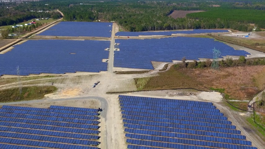 solar : Solar Farm fly by
