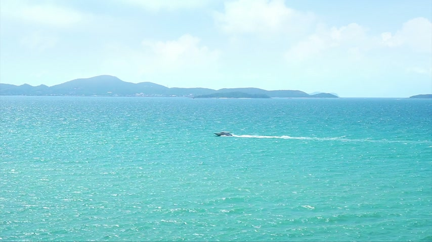 Speed Boat on the Pattaya sea, Thailand Stock Footage