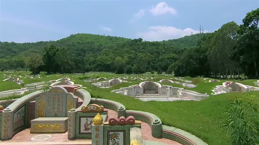heir : Chinese cemetery in Ching Ming festival