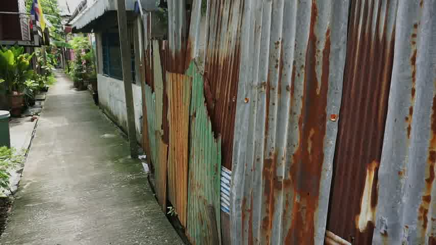 çinko : Street at thai slum