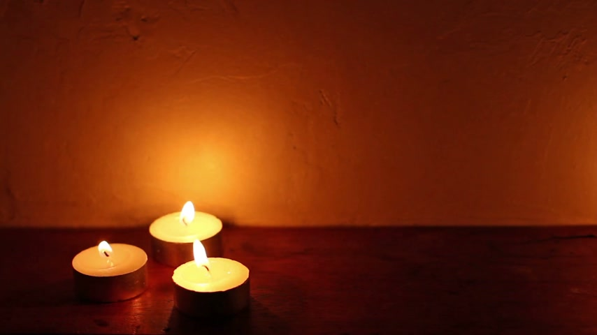 herbal : spa candle light romantic background, seamless loop