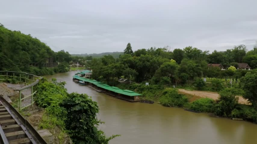 Канчанабури : View of landscape at burma railway Kanchanaburi thailand.