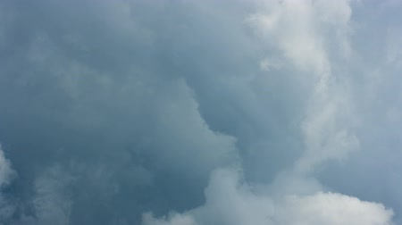 Dark clouds, stormy sky, time lapse video Stock Footage