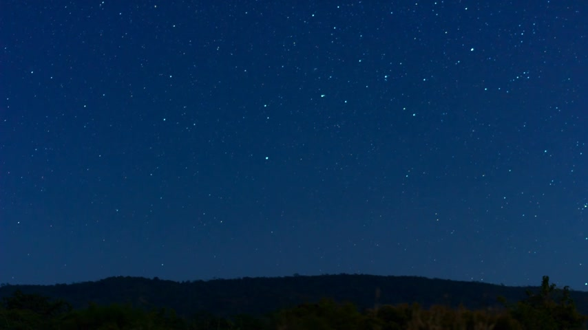 stars : timelapse stars in mountain woods. Thailand Stock Footage