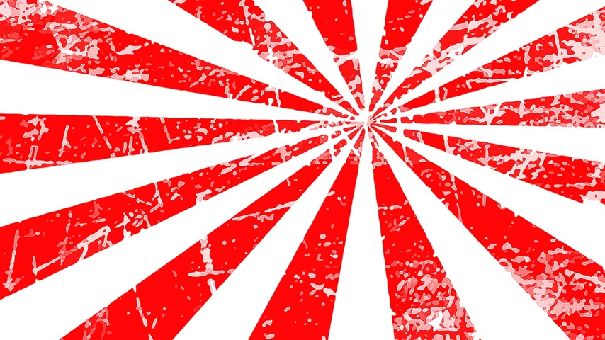 специальный : Red and white grungy radial spinning motion background seamless loop