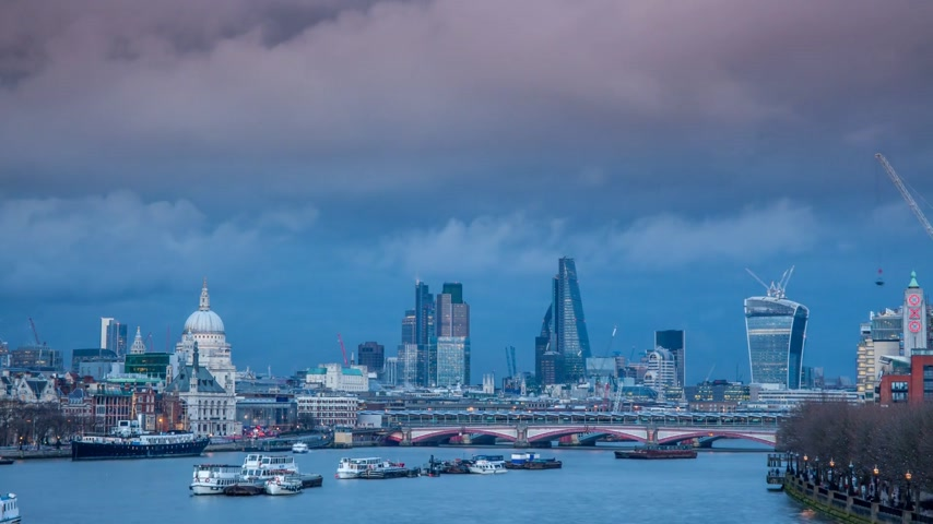 egyesült : Sunset panorama of London and river Thames