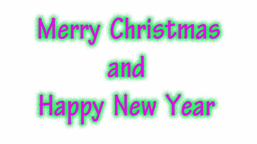 publicity : Writing MERRY CHRISTMAS AND HAPPY NEW YEAR on the white background. Writing in changes colors throughout the spectrum, Seamless Loop