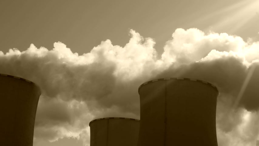farpado : Power Plant Pocerady in Czech Republic in Sunny Day