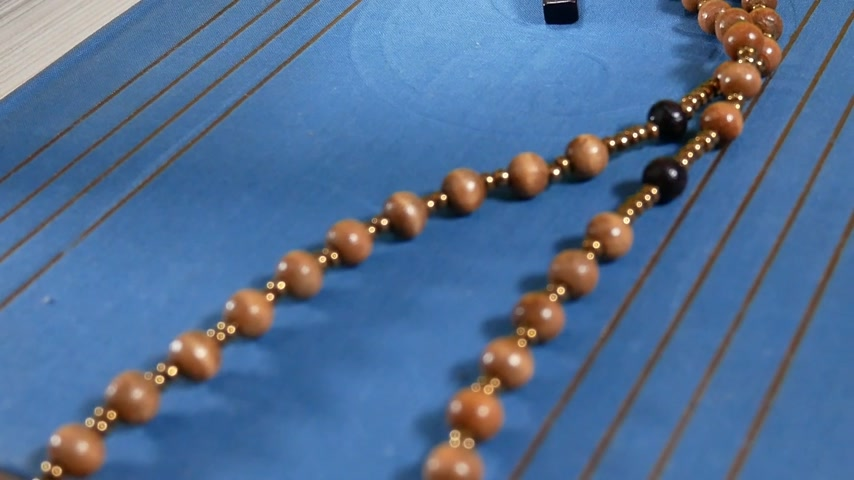 Wooden Rosary on the Bible. Panning