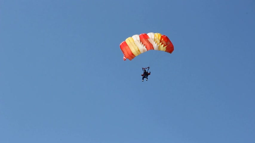 extremo : Flying on a parachute