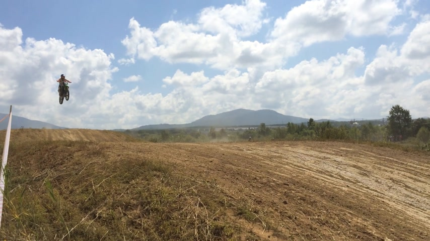 talaj : Arsenyev, Russia - august 30, 2014: Rider on a motorcycle, motocross championship.