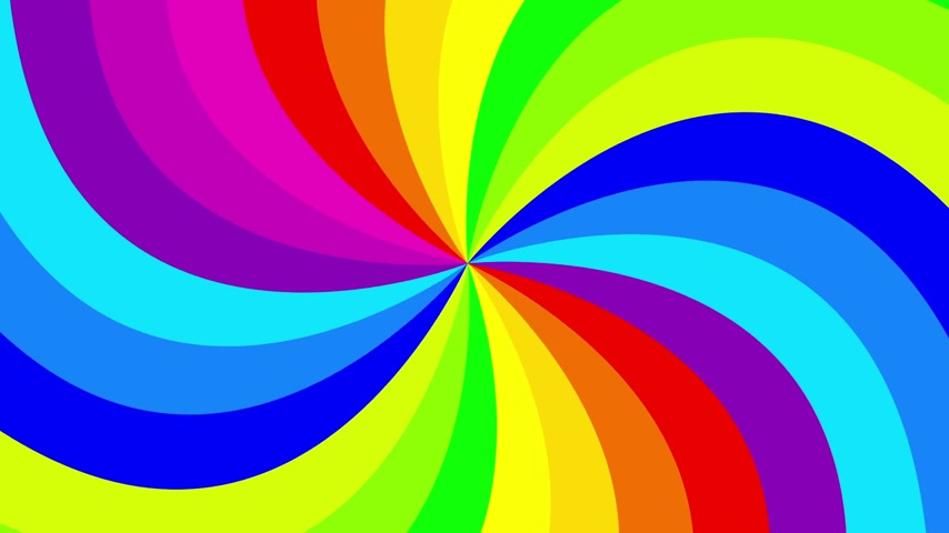 színek : Colorful background rainbow  that  rotating spiral. 2d animation.