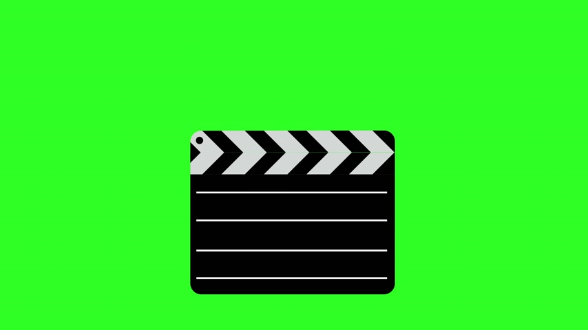 взятие : Movie clapper board  Illustration. Green screen background. 4k animation. Стоковые видеозаписи