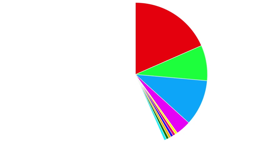 turta : Business pie chart, animated Infographics circle graph Stok Video
