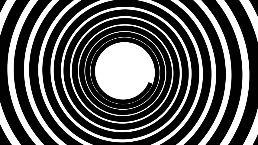 helezon : Spiral hypnotic animation. Black and white looping. animation. Stok Video