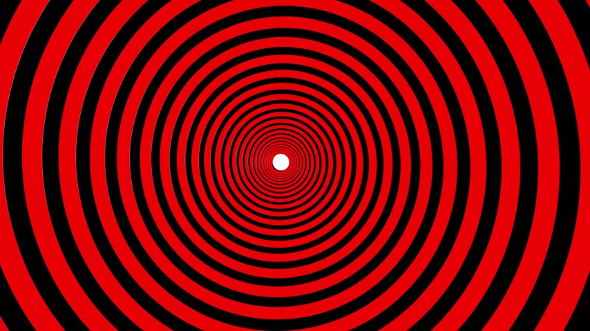 helezon : Spiral hypnotic animation. Red and white looping. animation. Stok Video