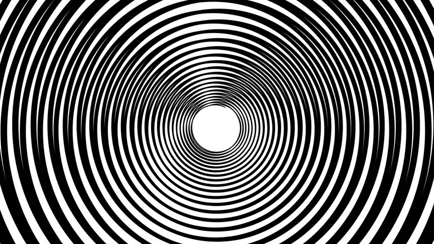 infinito : Spiral hypnotic animation. Black and white looping. animation. Stock Footage