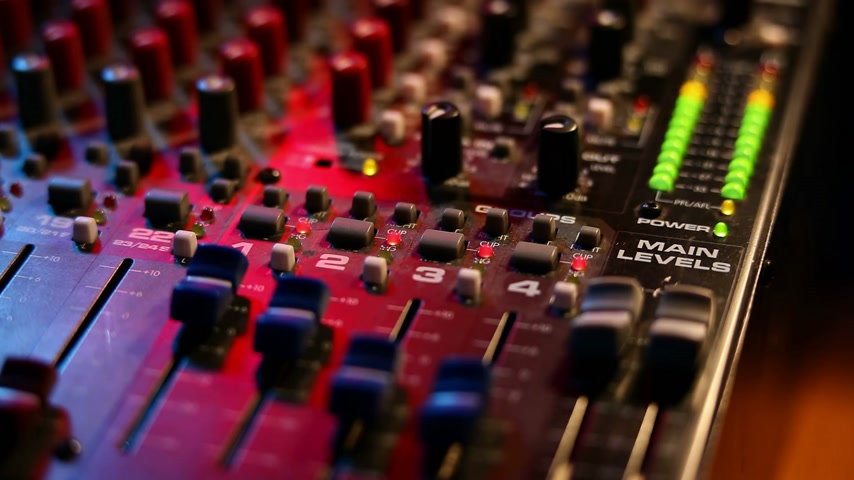 lighting equipment : Mixing board on a concert (fast motion) Stock Footage