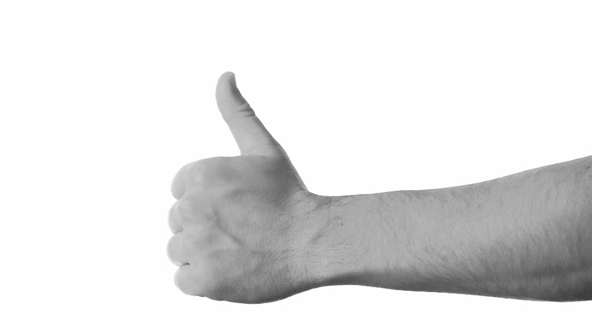 taça : Flag of Scotland over hand showing thumbs up.