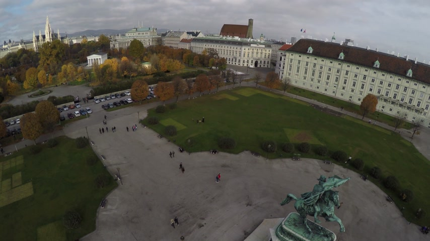 hofburg : Aerial view on Heroes square in Vienna.