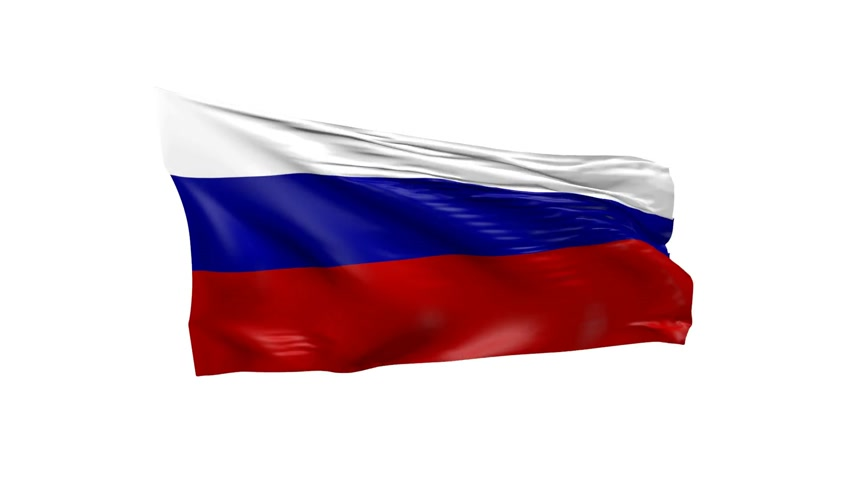 acetinado : Waving flag of Russia, 3d animation