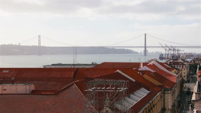 alfama : Lisbon panorama. Lisbon is the capital and largest city of Portugal.