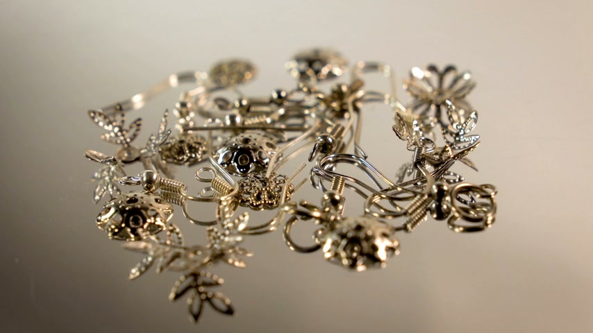 suporte : A set of parts for the assembly of earrings. Elements for creativity and assembly of earrings