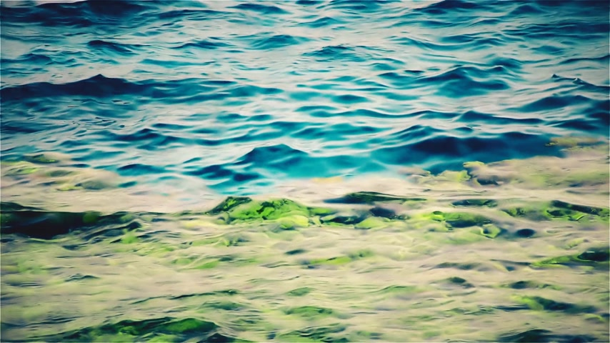glowing sunlight on water : Transparent sea water. Natural beautiful background. Stock Footage
