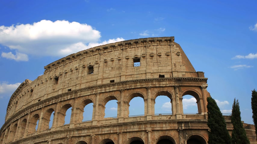 building of the Colosseum in Rome close up 動画素材