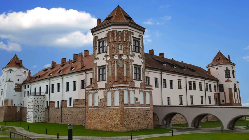 dünya mirası : Medieval castle in the city of Belarus