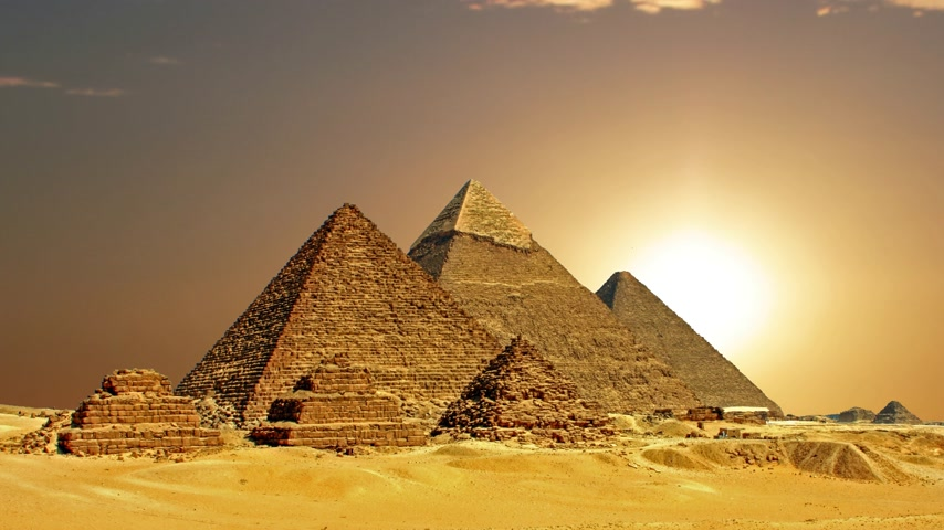 antikvitás : Ancient Egyptian pyramids, symbol of Egypt.