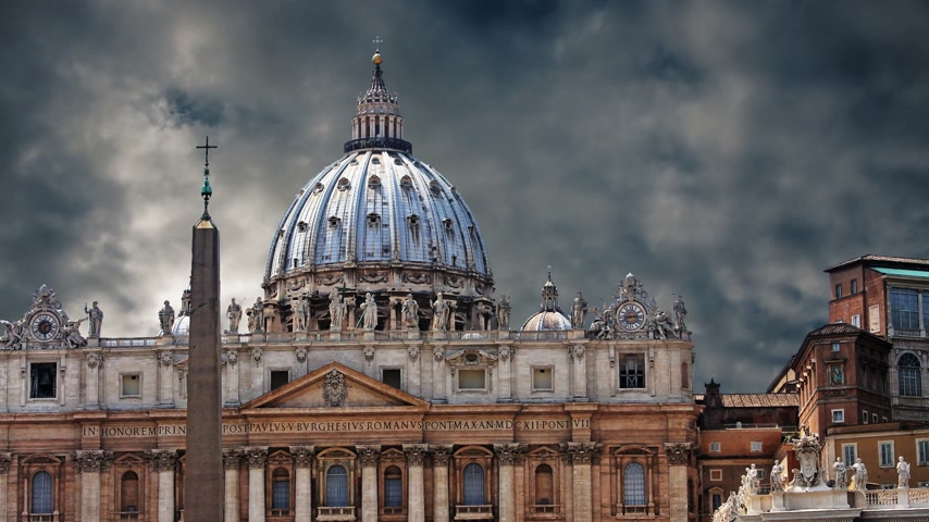 The magnificent Cathedral of St. Peter in the Vatican Wideo