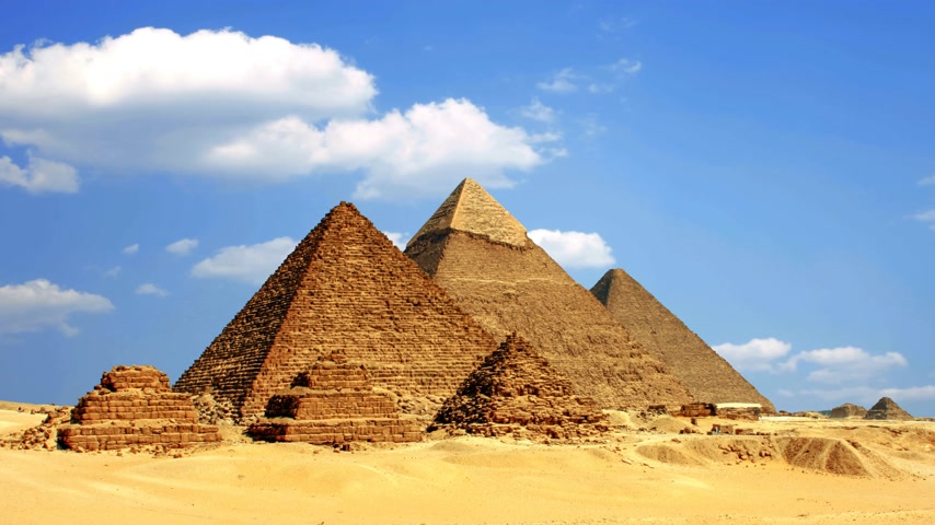 starožitnosti : Ancient Egyptian pyramids, symbol of Egypt.
