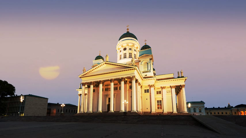 senate square : Beautiful Cathedral in Helsinki Finland.