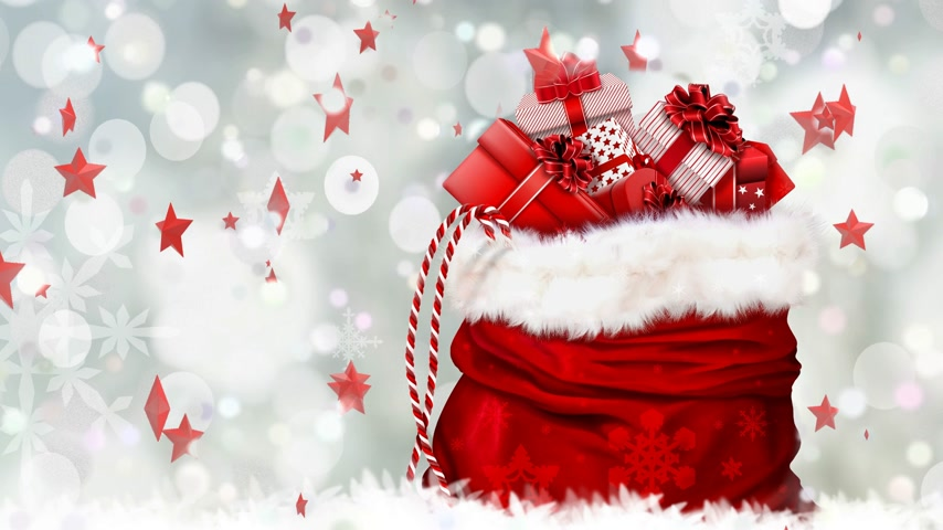 Festive Christmas background, happy new year greeting Wideo