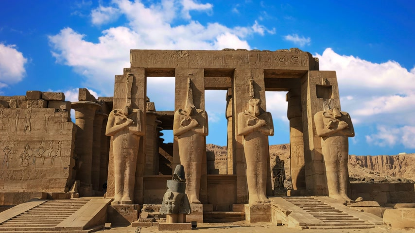 antiquities : Ruins of the beautiful ancient temple of Karnak in Luxor