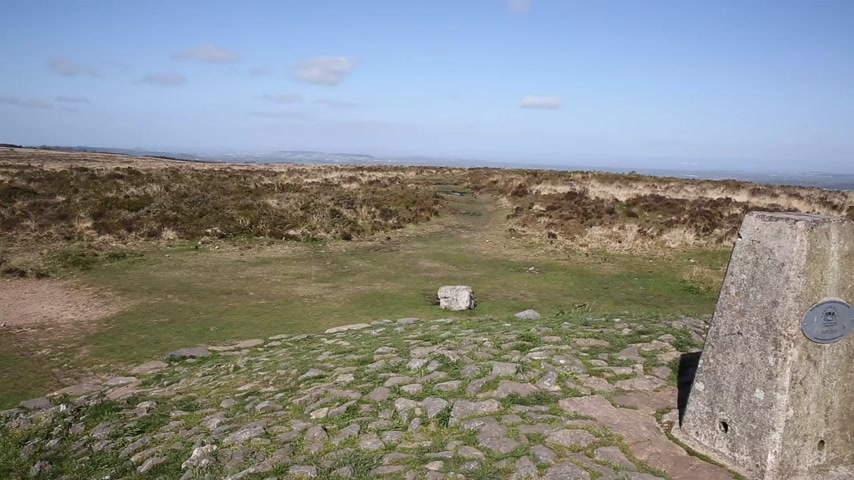 kopec : Trig point at Black Down the highest hill in the Mendip Hills Somerset in south-west England UK