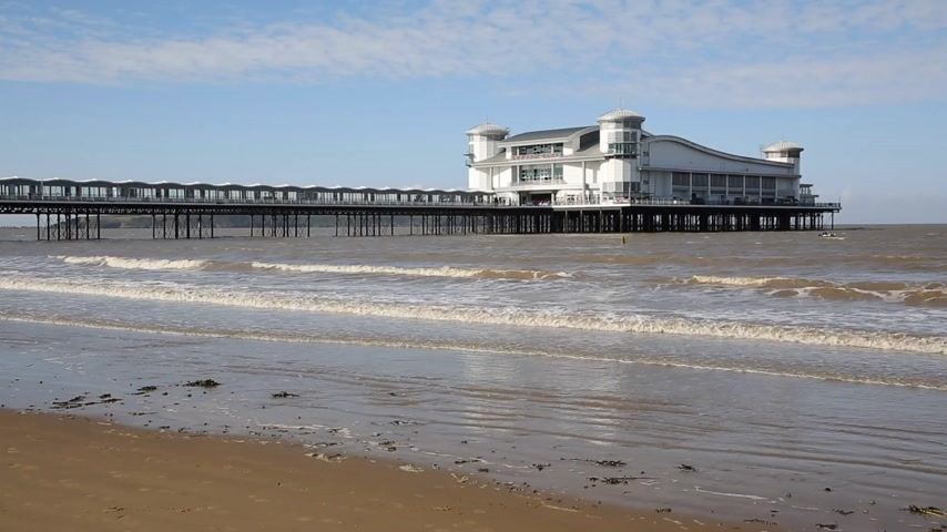 atracação : Grand Pier Weston-super-Mare Somerset England UK