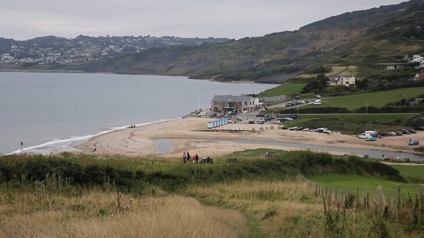 lyme : Charmouth Dorset England uk between Lyme Regis and West Bay on the English Jurassic Coast a World Heritage Site