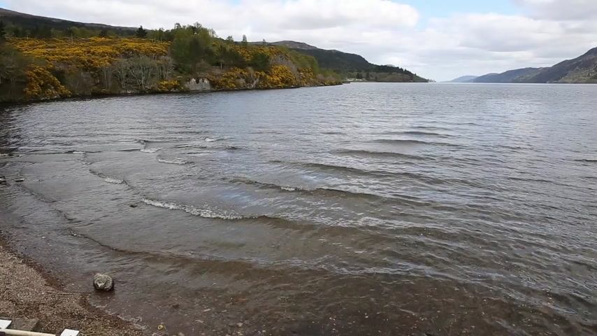augustus : Loch ness Scotland uk popular tourist attraction viewed from Fort Augustus south west end of the lake in the Scottish Highlands pan