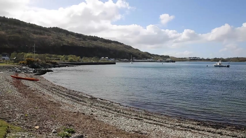argyll : Craignure Isle of Mull Argyll and Bute Scotland uk view to ferry port pan Stock Footage