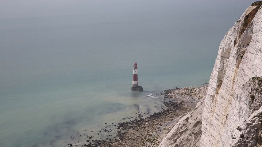 Beachy Head Lighthouse East Sussex, Inglaterra, Reino Unido, cerca de Eastbourne y al este de las siete hermanas acantilados de tiza