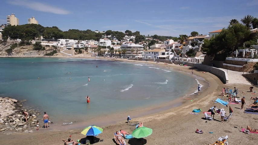 El Portet near Moraira Spain village beach on the Costa Blanca