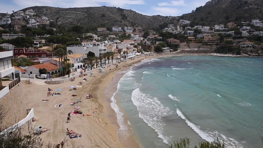 El Portet near Moraira Spain Spanish village with beach on the Costa Blanca