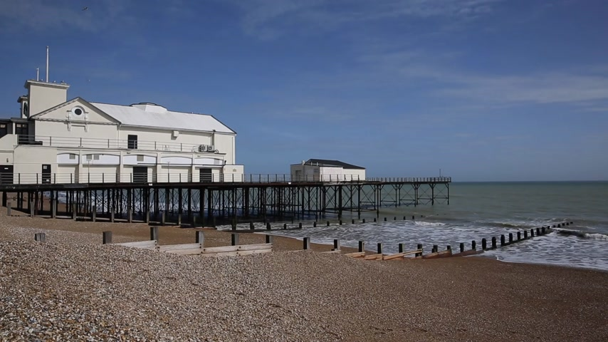 Muelle de Bognor Regis y el mar West Sussex