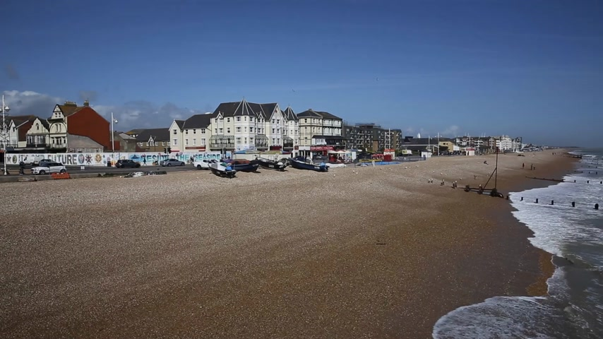 galets : Bognor Regis plage pan West Sussex Angleterre Royaume-Uni