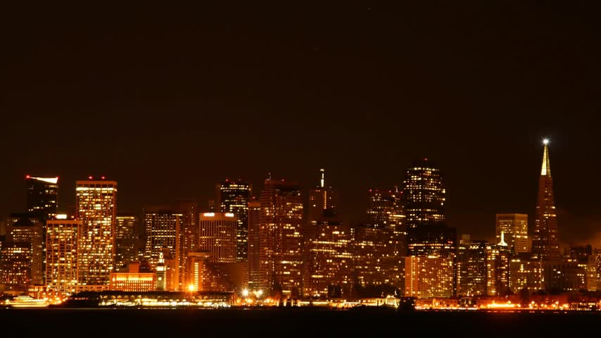san francisco : Time lapse San Francisco at night  Stock Footage