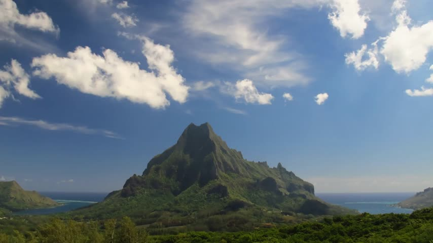 time journey : Time Lapse Belvedere Lookout, Moorea, French Polynesia  Stock Footage