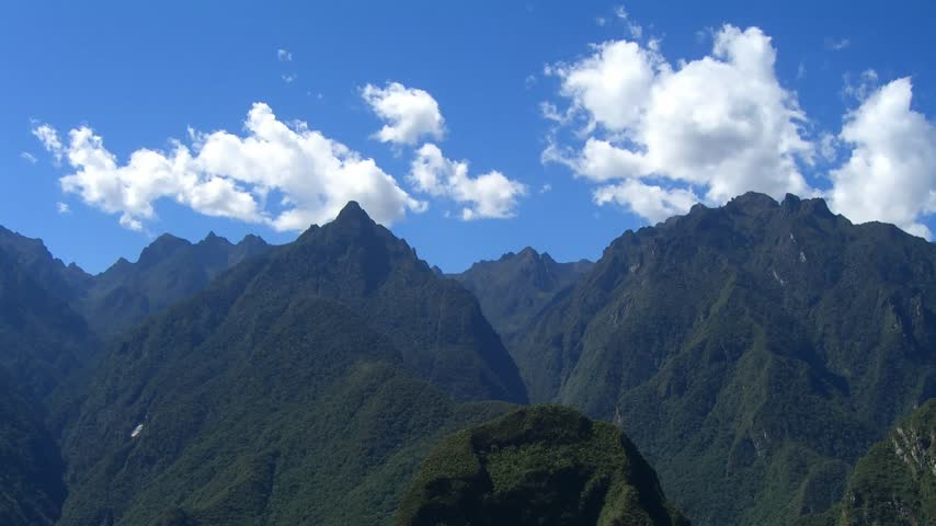serene : Time lapse surrounding mountains of Machu Picchu in Peru