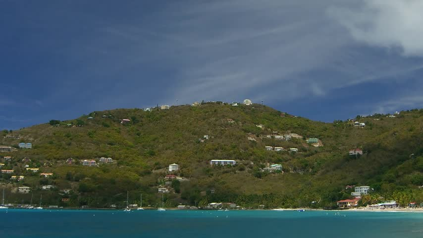 pans : Time lapse Cane Garden Bay on Tortola, British Virgin Islands